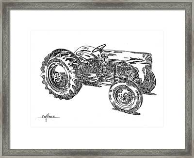 Ford 8n Tractor Framed Print by Ken Nickle