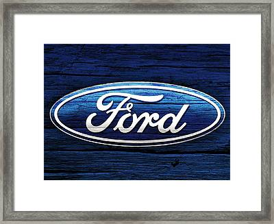 Ford Barn Door Framed Print by Dan Sproul