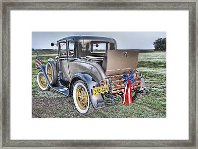 Framed Print featuring the photograph Ford Classic by Dyle   Warren