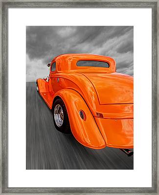 Ford Coupe Hot Rod 1934 Framed Print by Gill Billington