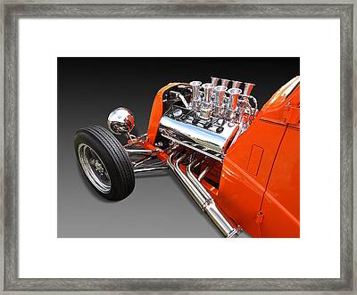 Ford Coupe Hot Rod Engine Framed Print by Gill Billington