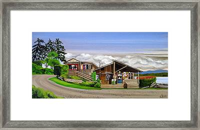 Ford Cove Hornby Island Framed Print by Elissa Anthony