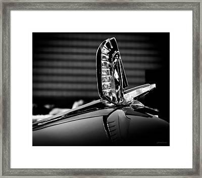 Ford - Cresline Sunliner Hood Ornament Framed Print by Steven Milner