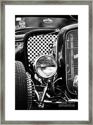 Ford Dragster Monochrome Framed Print