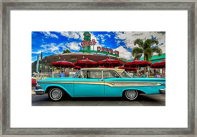 Ford Edsel Classic Framed Print by Bill Tiepelman