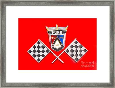 Ford Emblem Framed Print by Jerry Fornarotto