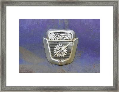 Ford Emblem Framed Print by Laurie Perry