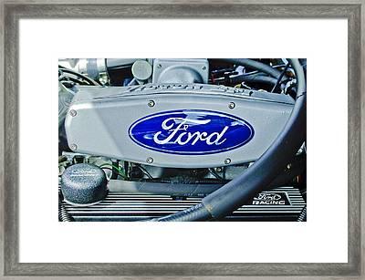 Ford Engine Emblem Framed Print