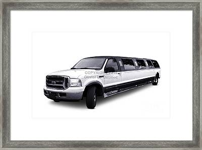 Ford Excursion Stretched Limousine Framed Print