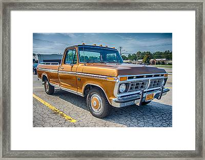 Ford F-100 7p00531h Framed Print