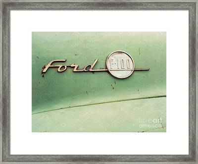 Ford F-100 Framed Print by Priska Wettstein