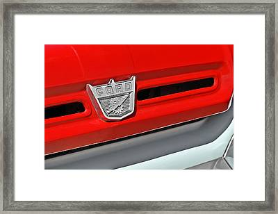 Ford F-500 - Route 66 - Winslow Arizona Framed Print by Christine Till