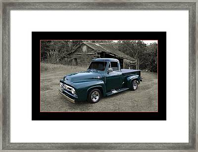 Framed Print featuring the photograph Ford F100 by Keith Hawley