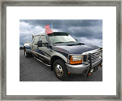 Ford F350 Super Duty Truck Framed Print by Gill Billington