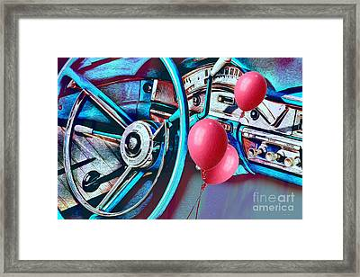 Ford Fairlane 500 Dashboard- Warhol-esque Framed Print
