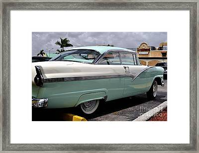 Ford Fairlane Profile Framed Print by Andres LaBrada