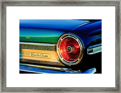 Ford Fairlane Sports Coupe Taillight Emblem Framed Print