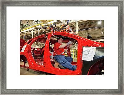 Ford Focus Assembly Line Framed Print