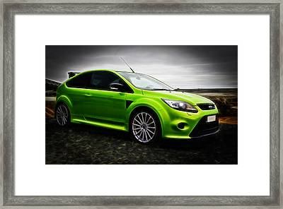 Ford Focus Rs Framed Print by motography aka Phil Clark