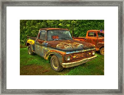 1962 Ford Pickup Truck F Series Fourth Generation  Framed Print by Reid Callaway