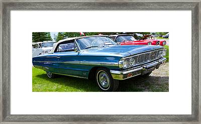 Framed Print featuring the photograph Ford Galaxie 520 Xl by Mick Flynn