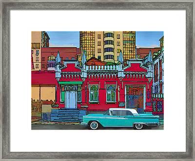 Ford Galaxy-town-victoria 1959 Framed Print by Vladimir Kholostykh