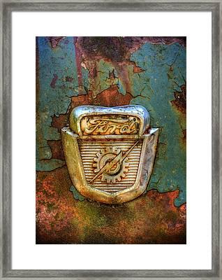 Ford Gear And Lightning Framed Print