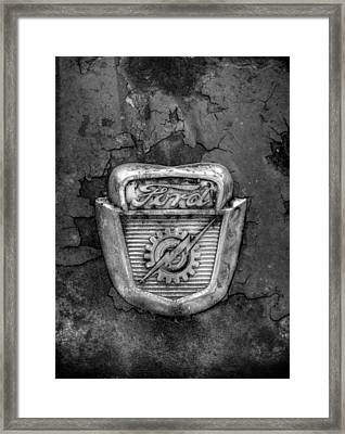 Ford Gear And Lightning In Black And White Framed Print