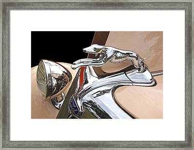 Ford Greyhound Hood Ornament 1932 Framed Print by Gill Billington