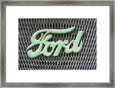 Ford Grille Framed Print by Laurie Perry
