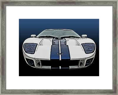 Ford Gt-40 Head On Framed Print