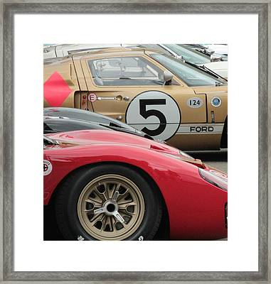 Ford Gt 40's Framed Print