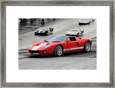 Ford Gt And Gt40 1966 Le Mans Win Framed Print