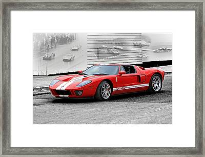 Ford Gt And Gt40 Memories Framed Print