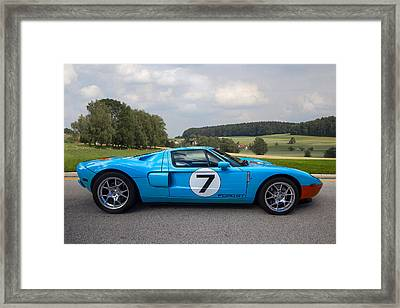 Ford Gt Framed Print by Debra and Dave Vanderlaan
