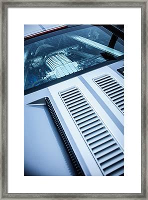 Ford Gt Engine -0391c Framed Print