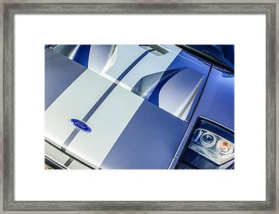 Ford Gt40 Hood Emblem -0305c Framed Print by Jill Reger