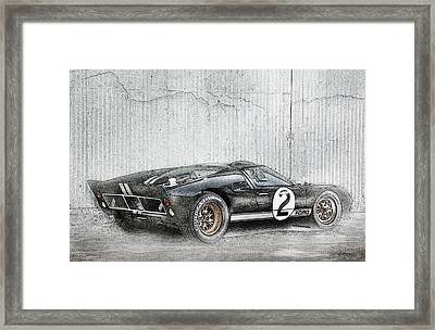 Ford Gt40 Framed Print by Peter Chilelli