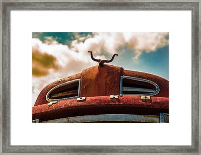 Ford Hood Ornament Framed Print