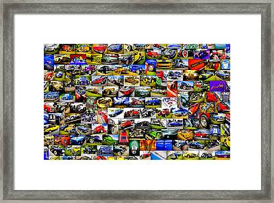 Ford Hot Rod Collage Framed Print by motography aka Phil Clark