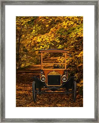 Ford Framed Print by Jack Zulli