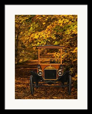 Ford Model T Car Paintings Framed Prints