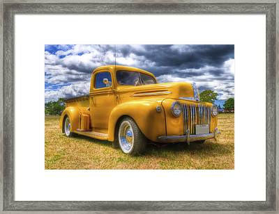 Ford Jailbar Pickup Hdr Framed Print by Phil 'motography' Clark