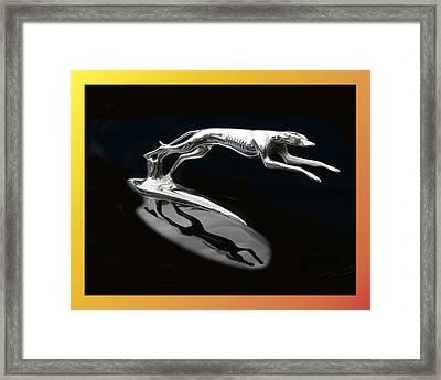 Ford Lincoln Greyhound Mascot Framed Print by Jack Pumphrey
