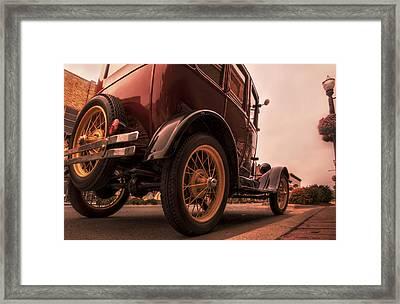 Ford Model A - Classic Car - Antique Framed Print