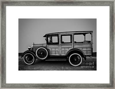 Ford Model A Station Wagon 1930 Framed Print by David Millenheft
