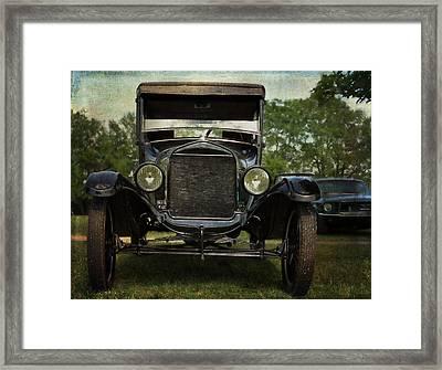 Ford Model T Vintage Car Framed Print by Cat Whipple