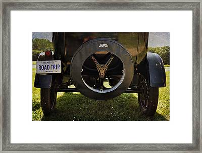 Ford Model T Vintage Car Road Trip Framed Print by Cat Whipple