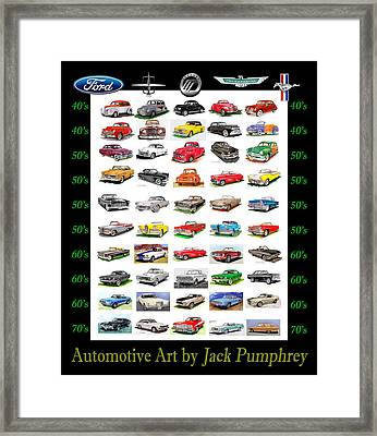 Four Decades Of Fords Poster Framed Print