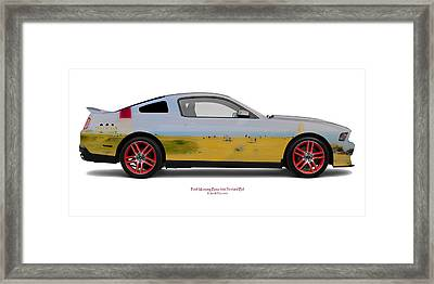 Ford Mustang Boss Portland Bill Framed Print by Jan W Faul